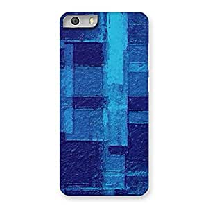 Premier Blue Pattern Back Case Cover for Micromax Canvas Knight 2