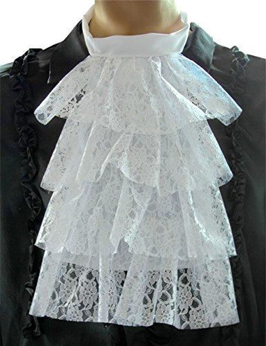 Lace Jabot Jabot Neckwear white
