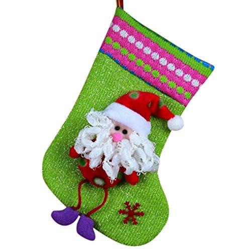 AMUSTER Mode Regali Di Natale Candy Beads Natale Babbo Natale Snowman Calzini Decorazioni (A)