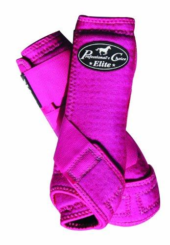 Professional's Choice Profis Wahl Equine Sport-Medizin VenTECH (TM Elite vorne Bein Stiefel, paarweise, Himbeere (Rosa Boot-gamaschen)