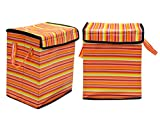 Desirica Orange Home Storage Laundary Bag/Toy bag with Cover