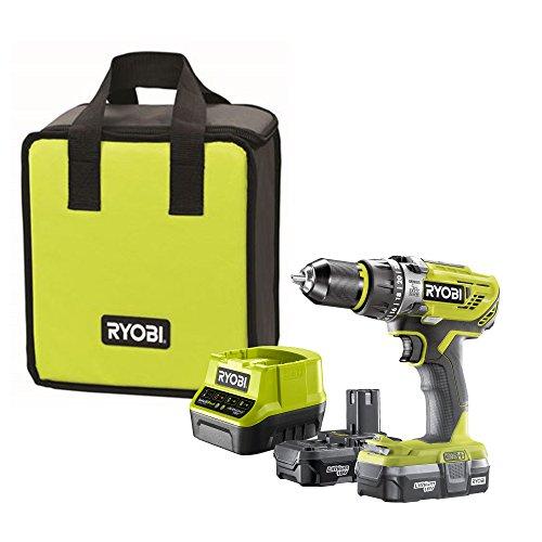 Ryobi R18PD31-213S 18V ONE+ Cordless Compact Combi Drill Starter Kit (2 x 1.3Ah)