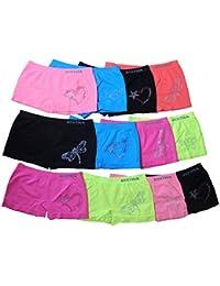 Unbekannt - Culotte - Fille multicolore rot, pink, blau, grün, orange, gelb, weiß, rosa