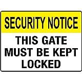 Sicherheit beachten, dieses Gate müssen Home Decor Metall Schild Gesperrt für Outdoor Yard Sicherheit Schild