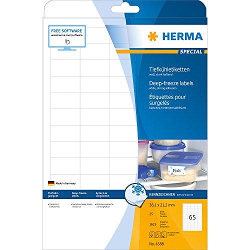 Preisvergleich Produktbild Herma 4388 Tiefkühletiketten (A4 Papier matt, 38,1 x 21,2 mm) 1625 Stück weiß