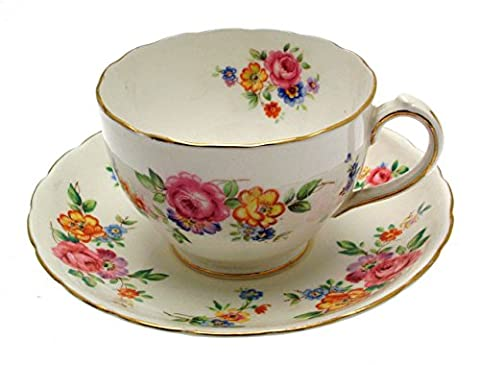 New Chelsea 3549 Floral Breakfast Cup and Saucer by FLORAL
