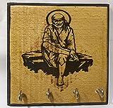 Karigaari India Wooden Sai Baba Key Hold...
