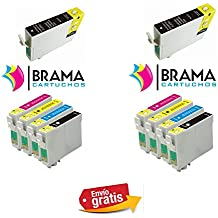 Bramacartuchos - 10 X Cartuchos compatibles NON OEM para Epson T1631, T1632, T1633,T1634, 16XL,Epson Workforce 2630WF, 2650, WF-2010w, WF-2510wf, WF-2520nf, WF-2530wf, WF-2540wf, WF-2650DWF, WF-2660DWF,