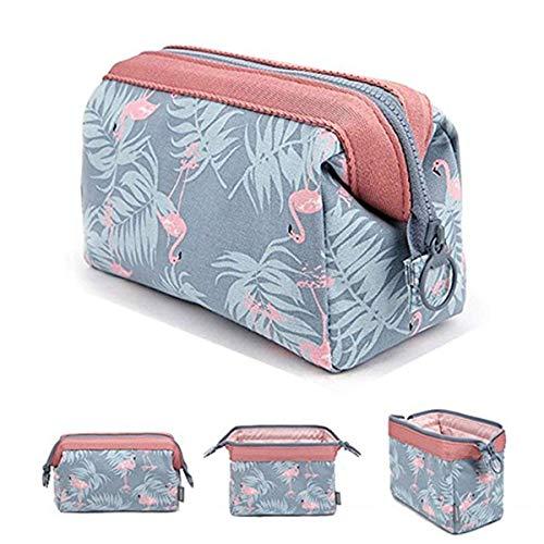 Tpocean cosmetico, borse da viaggio portatile trucco spazzola della toilette Wash bag Travel Storage Bag make up case sacchetto per donne, Flamingo (Grigio) - unknown