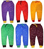 #2: Kids Boys Diaper fit woolen Pants with Bottom Rib Lion print (Pack of 6) Leggings / Tracks