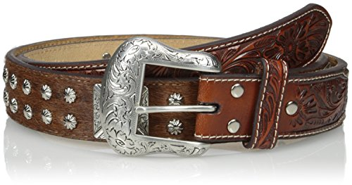 Nocona Men's Tirquoise Square Concho, Tan, 40 -