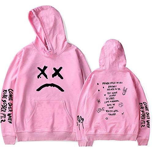 AWKingbf Unisex Sweatshirt Lil Peep Kapuzenpullover Sad Printd Langarm-Kapuzenshirt Für Mädchen Jungen