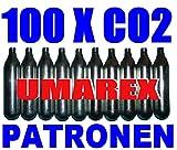 100 x 12g Co2 Kapseln für Softair, Painball, Luftpistolen oder Luftgewehre