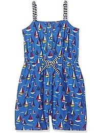 Yumi Boat Print Playsuit (Bright Blue), Vestido para Niños