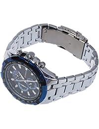 Reloj de hombre - CURREN Reloj de pulsera de acero inoxidable de hombre (Correa de plata & Esfera azul)