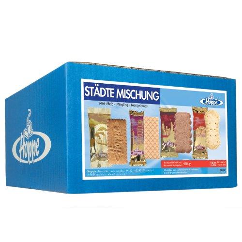Preisvergleich Produktbild Hoppe Städte Mischung,  Kekse,  Plätzchen,  4 Sorten Gebäck,  einzeln verpackt,  150 Stück,  910g