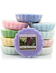 Yankee Candles® - Pack de 10 Bougies Parfumées en Cire sans Mèche - Design Tartelettes Florales