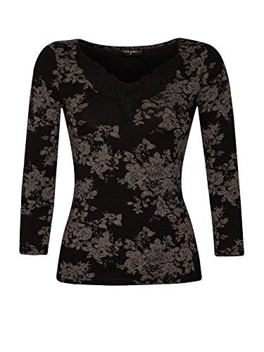 Vive Maria Dark Romantic Maglietta Nero Allover Print nero L