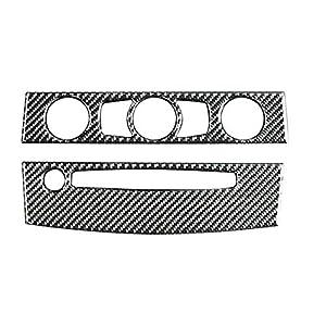 TOOGOO Interieur Klimaanlage Aus Kohle Faser Cd Bedienteil Auto Styling Aufkleber Für BMW E60 5 Serie 2004-2007 Zubeh?r