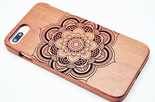 RoseFlower® iPhone 7 / iPhone 8 (4,7 Zoll (11,9 cm) Holzhülle - Palisander-Weihnachtsbaum - NatürlicheHandgemachteBambus / Holz Schutzhülle Palisander-Mandala-Blume