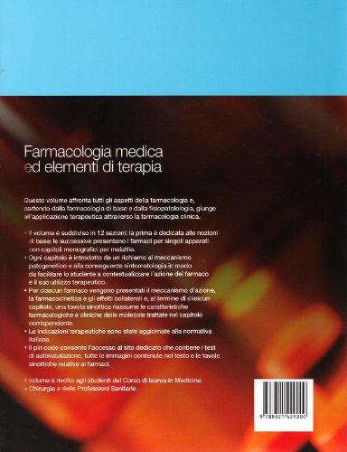 Zoom IMG-1 farmacologia medica ed elementi di