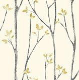 Fine Décor uw24776Scandi Baum Seitenwand, senf