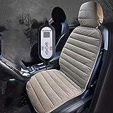 HEIFEN Cuscino del Sedile Auto Cuscino riscaldante per Auto 12 V Cuscino del Sedile Elettrico Universale Antiscivolo Cuscino del Sedile del Guidatore del Tappetino Auto SUV Caldo, Uno, Pezzi