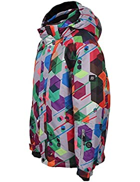 bejo Niños Neyo Jr Junior Invierno Jacket, infantil, NEYO JR, Grey/Geometric Print, 146