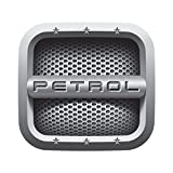 #9: KREEPO® Grey [Petrol] Car Fuel Lid Decal /Sticker Printed (12Cm) For Maruti Suzuki Baleno