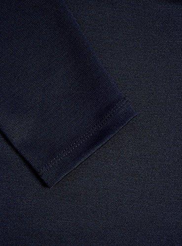 oodji Ultra Damen Enges Kleid mit Rundem Ausschnitt Blau (7900N)