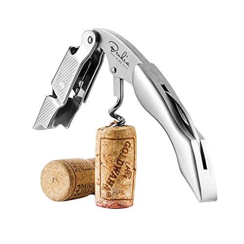 BENKIA Edelstahl Kellnermesser - Profi Korkenzieher in Gastronomie Qualität mit Flaschenöffner & Folienschneider inkl. Wein-Ratgeber Ebook -