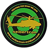 Seibertron Orange 'Fighting for What WE Love' PVC Rubber 3D Hook&Loop Touch Fastener Patch Tactical Patch by