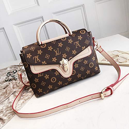 Medium Tote Bag Handtasche (LFGCL Bags womenSimple and stylish Umhängetasche mit Briefverschluss, Khaki)