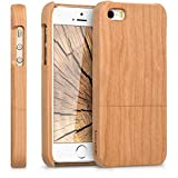 kwmobile Coque Apple iPhone Se / 5 / 5S - Étui de Protection Rigide en Bois...