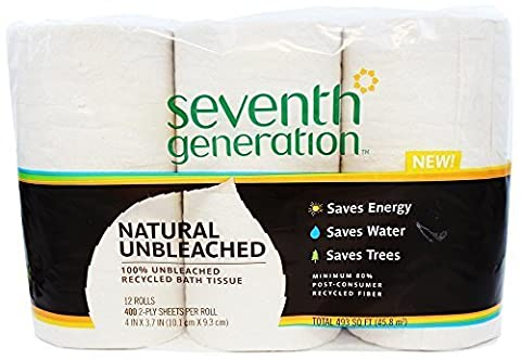 Seventh Generation - Natural Unbleached 100% Recycled Bath Tissue 2-Ply 400 by Seventh Generation