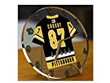 SIDNEY CROSBY SID THE KID - HORLOGE DE TABLE HOCKEY SUR GLACE PITTSBURGH PENGUINS NHL - EDITION LIMITEE LES LEGENDES DU SPORT