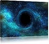 Schwarzes Loch im Weltall, Format: 100x70 auf Leinwand, XXL riesige Bilder fertig gerahmt mit Keilrahmen, Kunstdruck auf Wandbild mit Rahmen, günstiger als Gemälde oder Ölbild, kein Poster oder Plakat