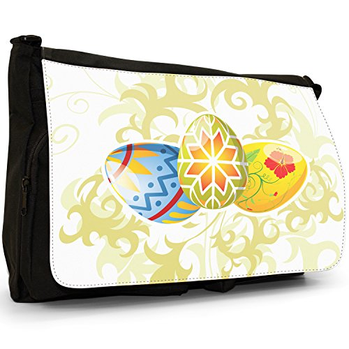 Fancy A Bag Borsa Messenger nero Easter Eggs Scattered In Field Brightly Coloured Attractive Easter Eggs