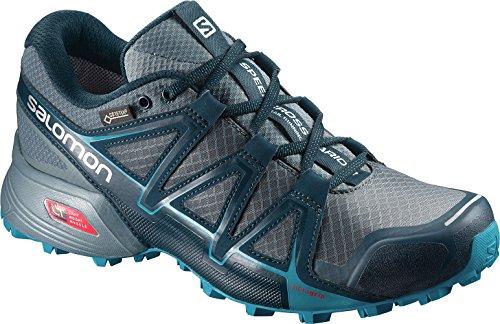 Salomon Femme Speedcross Vario 2 GTX Chaussures de Course à Pied et Trail Running, Synthétique/Textile Gris (Artic/north Atlantic/blue Bird)