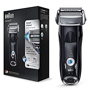 Braun Series 7 Electric Shaver for Men 7840s, Wet and Dry, Integrated Precision Trimmer, Rechargeable and Cordless Razor with Travel Case, Black