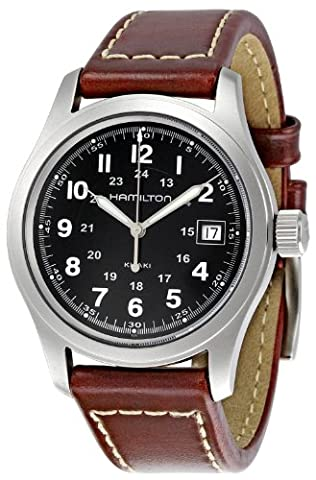 Hamilton Men's Automatic Watch with Black Dial Analogue Display -