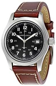 Hamilton H39515733 - Mouvement Automatique - Affichage Analogique - Montre à bracelet Cuir Noir et Cadran Noir - Homme