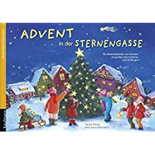 Advent in der Sternengasse: Ein Adventskalender mit großem Sternenfächer zum Aufhängen