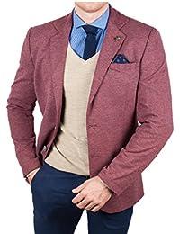 rnt23 Hombre Casual chaqueta Rojo, dos botón Chaquetas