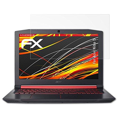 atFolix Schutzfolie kompatibel mit Acer Nitro 5 Bildschirmschutzfolie, HD-Entspiegelung FX Folie (2X)