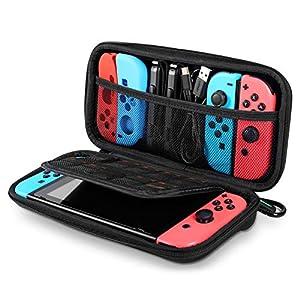 UGREEN Tasche für Nintendo Switch Slim Travel Switch Tragetasche Mini Hartschale Aufbewahrungstasche mit Karabiner und Doppelter Reißverschlussköpfen