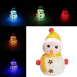 Pegasus Color que cambia el cristal de la nieve de la Navidad LED luz de la noche decoración del partido de Navidad