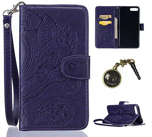PU Silikon Schutzhülle Handyhülle Painted pc case cover hülle Handy-Fall-Haut Shell Abdeckungen für Apple iPhone 7 Plus (5.5 Zoll) +Staubstecker (2HF) 1