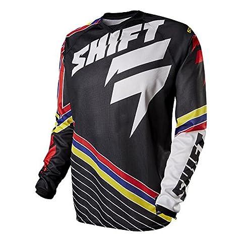 Shift 2015 Maillot De Motocross - Combattant Bandes - schwarz - Noir, m