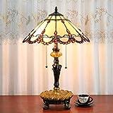 16 Zoll Pastoralen Antike Luxus Tiffany Stil Handgefertigte Glas Tischlampe Nachttisch bett kinder Licht